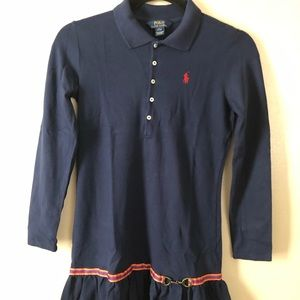 Girls Equestrian Inspired Polo Dress